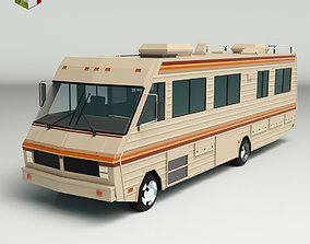 Low Poly Motorhome 02 3D model