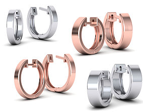 3D model Hoop earrings Collection with discount