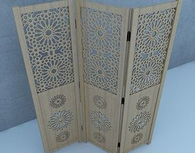 Traditional Moroccan Wood Screens 3D