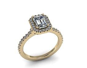 3D printable model brilliant Diamond Jewelry Ring