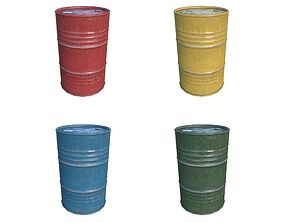 3D asset Oil Barrels