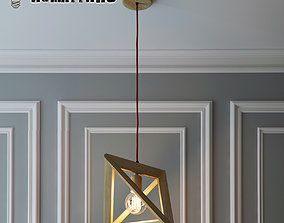 Hanging lamp Wood Triangle by Romatti 3D