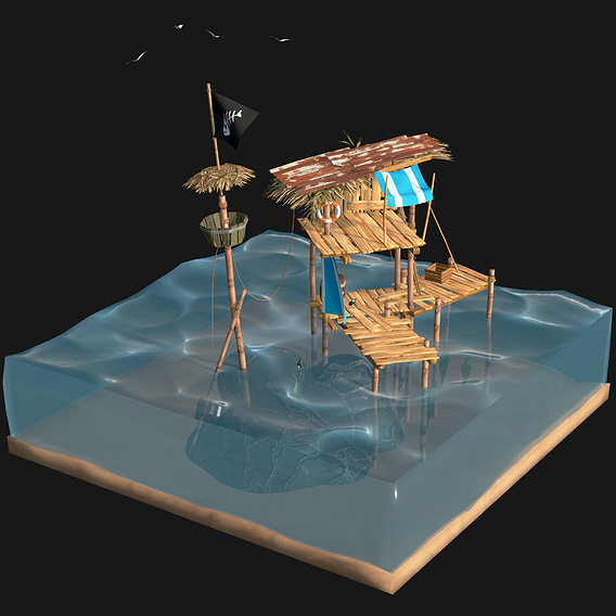 My Pirate Wooden Shack