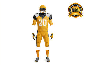 American Football Uniform 3D model equipment