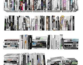 Books 150 pieces 4-6-1 3D asset