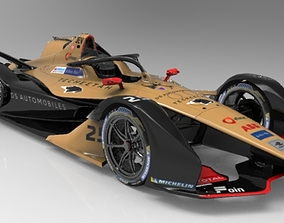 3D asset Formula E 2018-2019 TEAM DS Techeetah