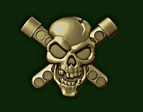 Skull biohazard onlay 3D printable model