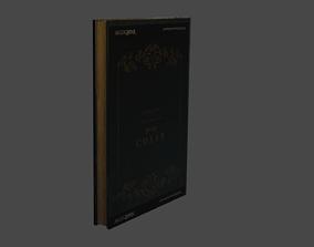 Textured Book 3D asset