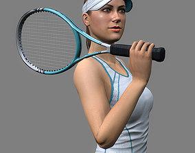 Tennis Player Girl 3D asset
