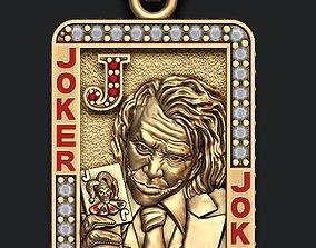 Joker playing card pendant 3D print model