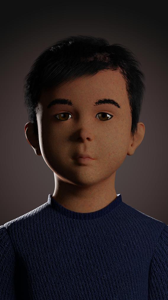 Human Kids Male Head