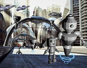 Robot world collection 3D asset