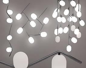 Suspended ceiling lamp brokis ivy set 3D model