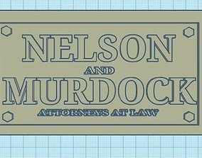 3D printable model Daredevil Nelson and Murdock plaque