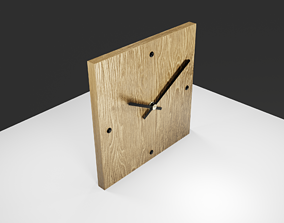 Realistic home clock 3D asset