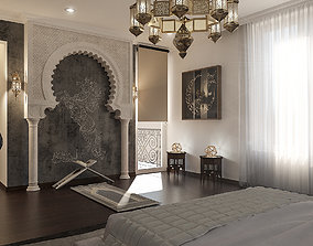Realistic Arabian Islamic Master Bedroom Design 3D MAX 1
