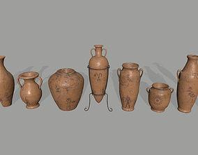 3D asset game-ready vase set