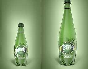 3D model Pack of 2 bottle Perrier 50cl and 1L
