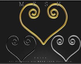 Heart Wire 05 3D model