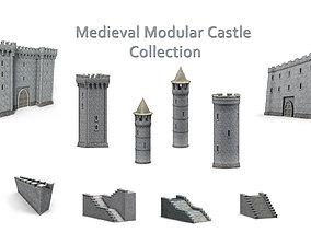 Medieval Modular Castle Collection 3D model