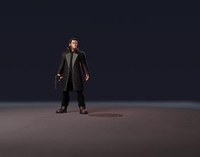 Detective LowPoly 3D asset