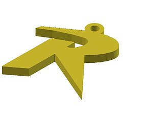 simple robin keychain for kids 3D printable model