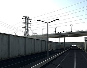 3D asset game-ready Highway
