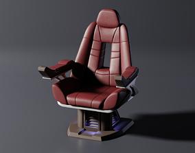 3D model Enterprise E Captain Chair