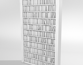 3D model house Bookcase library