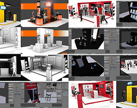 3D model Ultimate exhibition display stand for events