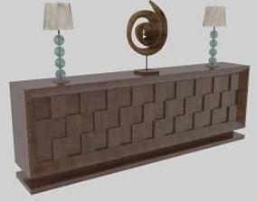 3D model lamp Console