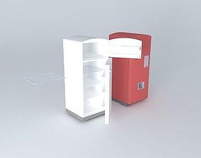 3D model Vintage Fridge and Coke Machine