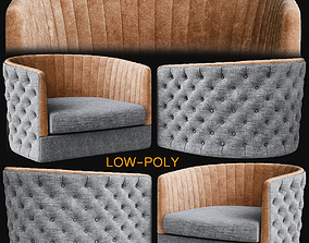 Armchair - Lucilla - B low poly 3d model realtime