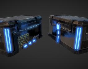 3D model SciFi Crate