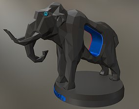 Voronoi Mammoth Pose 3D printable model