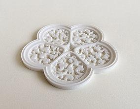 3D printable model Cinquefoil Coaster