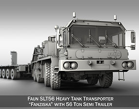 Faun STL-56 - Heavy Duty Tractor with 52t 3D model