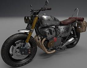 Survivor Motorcycle Post Apocalyptic Game 3D model