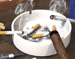 3D model smoking pack parafernalia