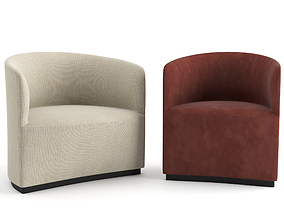 3D model Tearoom Club Chair and Lounge Chair by MENU