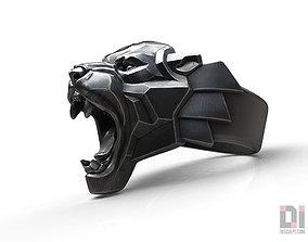 Black Panther leopard roaring animal ring 3D print model