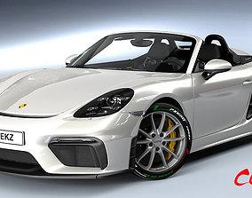 3D model Porsche Boxster Spyder 2020