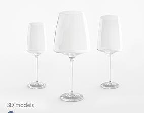 Schott Zwiesel wine glasses 3D asset