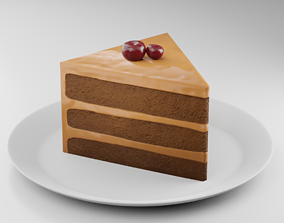Chocolate Cake vr 3D model low-poly