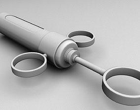 Adrenaline Syringe with needle 3D asset