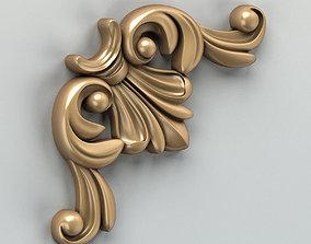 Carved decor corner 003 3D model