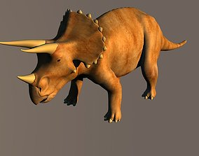 3D rigged Triceratops