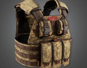 3D asset Military Tactical Soldier Vest 08 - MLT - PBR 1