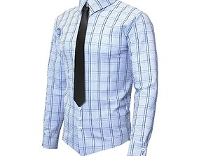 3D model Men Shirts with Tie
