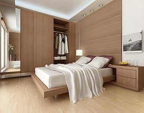 Bedroom architecture plan 3D model